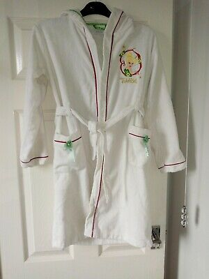 Disney Store Exclusive Tinkerbell White Dressing Gown With Hood Age 9/10 Years