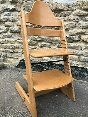 STOKKE tripp trapp childs chair highchair high chair dining adjustable wood orig
