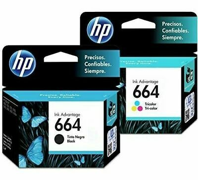 HP 664 - 2 Pack - Ink Cartridge BLACK + TRICOLOR IN COMBO In Retail Package.