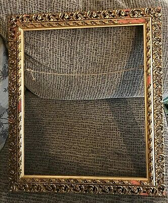 Vintage Large Gold Ornate/detailed photo Picture/photo Wooden Frame