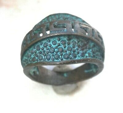 Rare Ancient Solid Ring Roman BRONZE  Stunning Artifact  vintage Rare type
