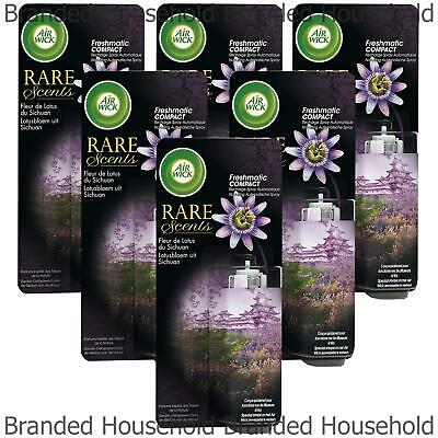6 x AIR WICK FRESHMATIC COMPACT REFILL LOTUS FLOWERS AIR FRESHENER 24ML