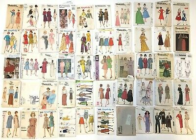 VTG 50s 60s 70s 80s SEWING pattern LOT of 50 butterick VOGUE advanced SIMPLICITY