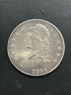 1834 Capped Bust Half Dollar- CLEANED