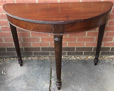 antique mahogany Demi Lume Console Hall Side Table
