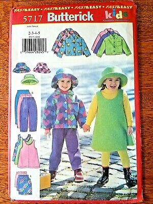 Butterick Fast & Easy Kids Fashion Essentials Sewing Pattern-5717 Size 2,3,4,5
