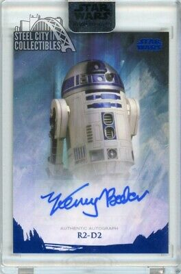 Kenny Baker R2-D2 2018 Topps Star Wars Stellar Signatures Autograph 9/25