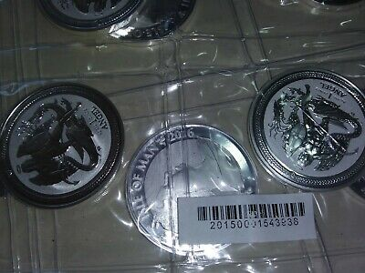 2016 Isle of Man Reverse Proof Angel 1 oz.999  Silver Coin-Rare
