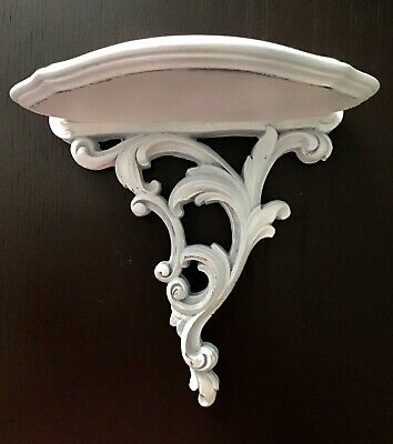 Vintage Syroco Wood Wall Hanging Sconce Shelf Ornate