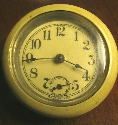 Vintage Clock Face And Movement. No Case. Bakelite Rim.  Made In U.s.a.