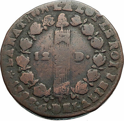 1791-93 FRANCE King LOUIS XVI Antique FRENCH REVOLUTION TIME Sol Coin i80265
