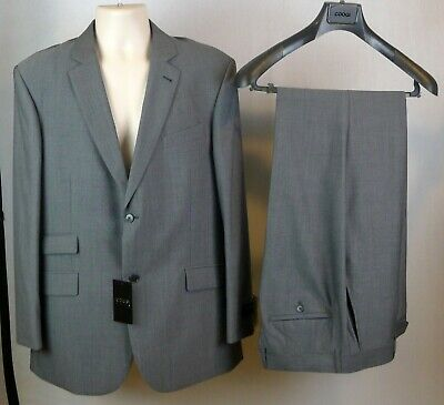 Authentic Coogi Luxe Men's Dress Suit Jacket Size 42R Pants Waist 36 Color Grey