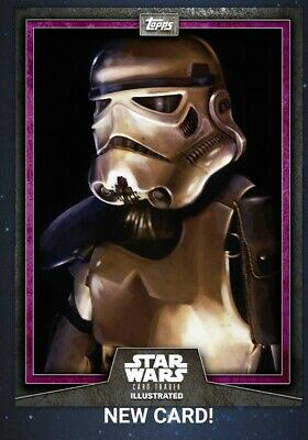 Star Wars Card Trader 2019 CTI Wave 5 Stormtrooper Illustrated Purple Digital