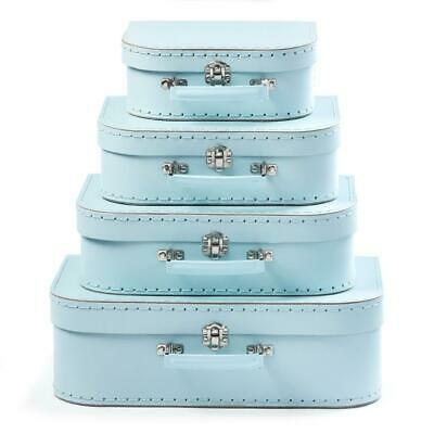 NEW Suitcase Set of 4 - BLUE - Room Decor - Toy Storage Carry Case