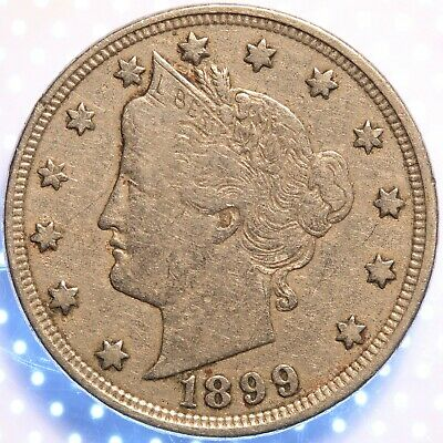 1899 Liberty Nickel, Nicely Circulated, Sharp Detail, Original And Problem Free!