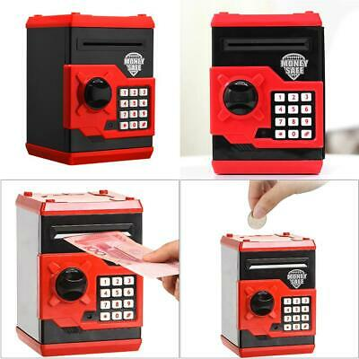 Electronic Piggy Bank ATM Password Money Saving Auto Deposit Safe Box Toy Gift