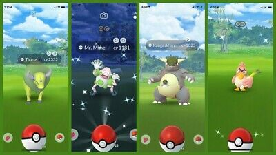 Pokemon Go Shiny Check 100X Mr. Mime, Kangaskhan, Tauros, and Farfetch'd