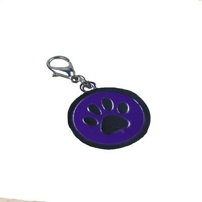 Stainless Steel Paw Personalized Puppy Pet Dog ID Tags Keychain Tag Pendant D5C