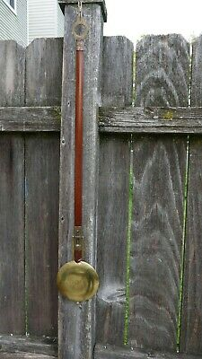 antique waltham clock co. wall regulator pendulum parts/project