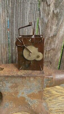 early antique European time only smaller tall clock/large wall clock movement pa