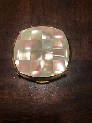 VIntage Stratton England Powder Compact Mother Of Pearl