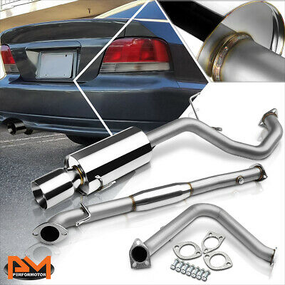 "4/"" MUFFLER TIP JDM RACING CATBACK EXHAUST SYSTEM 99-03 MIT GALANT 2.4 4CYL 4G64"