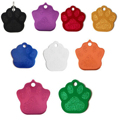 Paw Pet ID Tag Dog Puppy Cat Kitten Name Tags Aluminum alloy 27*27mm orange Y6A9