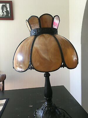 Tiffany Lead light Stained Glass Antique Lamp  - 70 cm High -Shade 40cm Dia