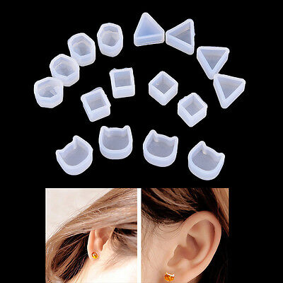 2X Women Clear Silicone Mold For Making Jewelry Earrings DIY Mold Resin Molds FF
