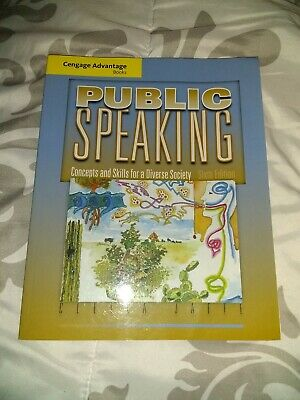 public speaking textbook, concepts and skills for a diverse society, 6th edition