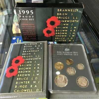 1995 WW2 / Weary Dunlop 50c RAM Six Coin Proof Set with Box & Certificate