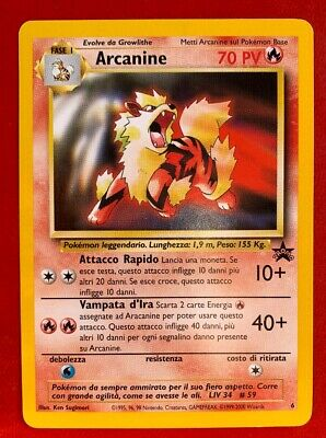 Lotto Carte Pokemon Arcanine 6 Promo Black Star Rara
