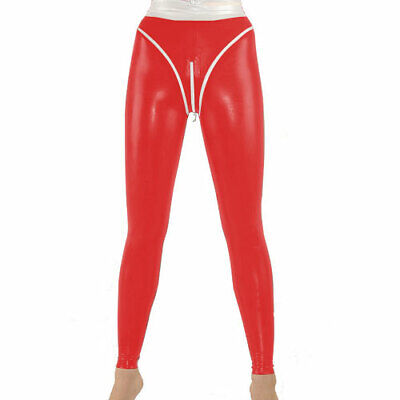 Herren Hose Latex Pants Trouser 100% Rubber Gummi Wetlook Rot Sexy Hip S-XXL