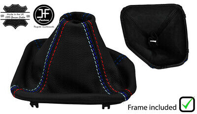 BLACK STITCH REAL LEATHER SHIFT BOOT+PLASTIC FRAME FOR FORD MUSTANG 64-68