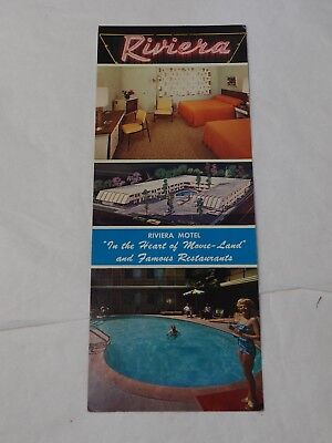 "Large Riviera Motel of Hollywood California color Photo Postcard 9"" x 3.5"""