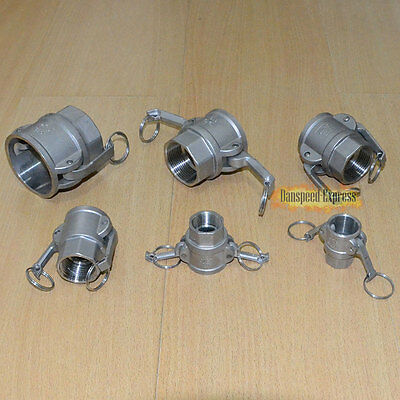 """1/2"""" Type D Trash Pump Female Camlock to Female Connector FF Threaded SUS316"""