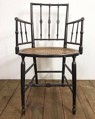 Stunning E.W Godwin Antique Arts & Crafts Ebonised Aesthetic Movement Chair
