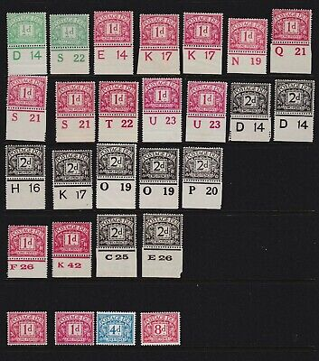 Mixed Postage Due Mostly Royal Cypher With Control Numbers Mounted Mint
