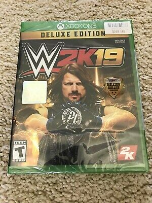 WWE 2K19 Deluxe Edition (Xbox One, 2018)BRAND NEW SEALED