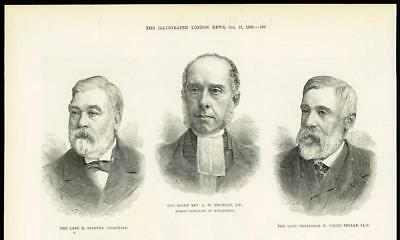 1890 - Antique Print  PORTRAIT M Stainton Rev Thorold W Young Sellar  (266A)