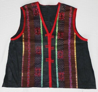 vintage tribal exotic chinese miao people's hand embroidery costume vest