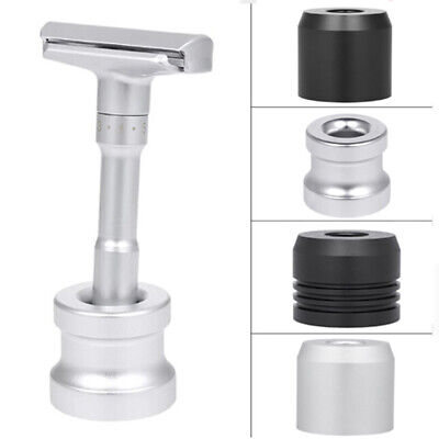 Portable Zinc Alloy Round Shaving Shaver Razor Stand Stable Base Holde~GN