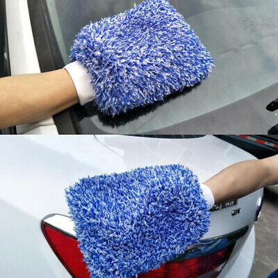 Soft Absorbancy Glove Car Cleaning Ultra Soft Microfiber Madness Wash Towel~GN