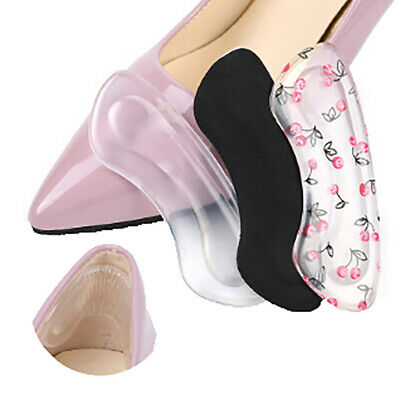 1Pair Gel Women Heel Inserts Protector Foot Feet Care Shoe Pad Insole Cushi~GN
