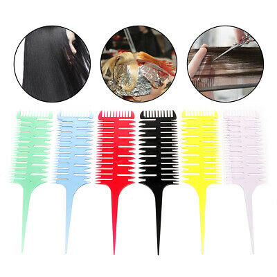3-Way Sectioning Highlight Comb Weave Weaving Comb Hair Dye Styling  Salon To~GN