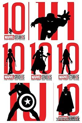 Topps Marvel Collect Card Trader Studios First Ten Years Silhouettes Set (7)
