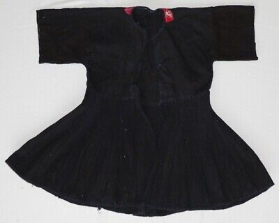 Vintage tribal exotic chinese miao people's old local cloth child costume