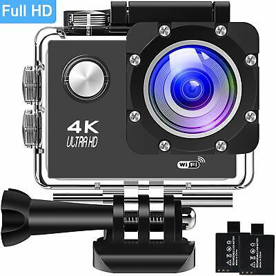 Action Camera 4K 30Fps Sports Cam - BUIEJDOG 16MP Action Cam HD WiFi Waterproof