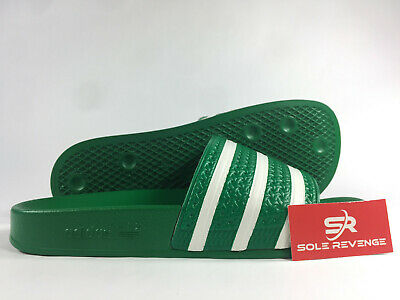 8 Men Adidas ADILETTE Slides Sandals Mens Green White Beach Flip Flops 280646