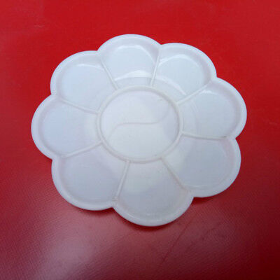 1Pc/Set 10 Grid Plum Blossom Watercolor Plastic Painting Tray Mixing Palette~GN